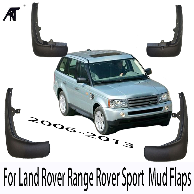 Mud Flap Splash Guards Mudflaps for Land Rover Range Rover Sport L320 2006 2007 2008 2009 2010 2011 2012 2013 4pcs/Set big discount 1 piece 4 1 button remote key card with 433mhz for land rover freelander 2 2006 2007 2008 2009 2010