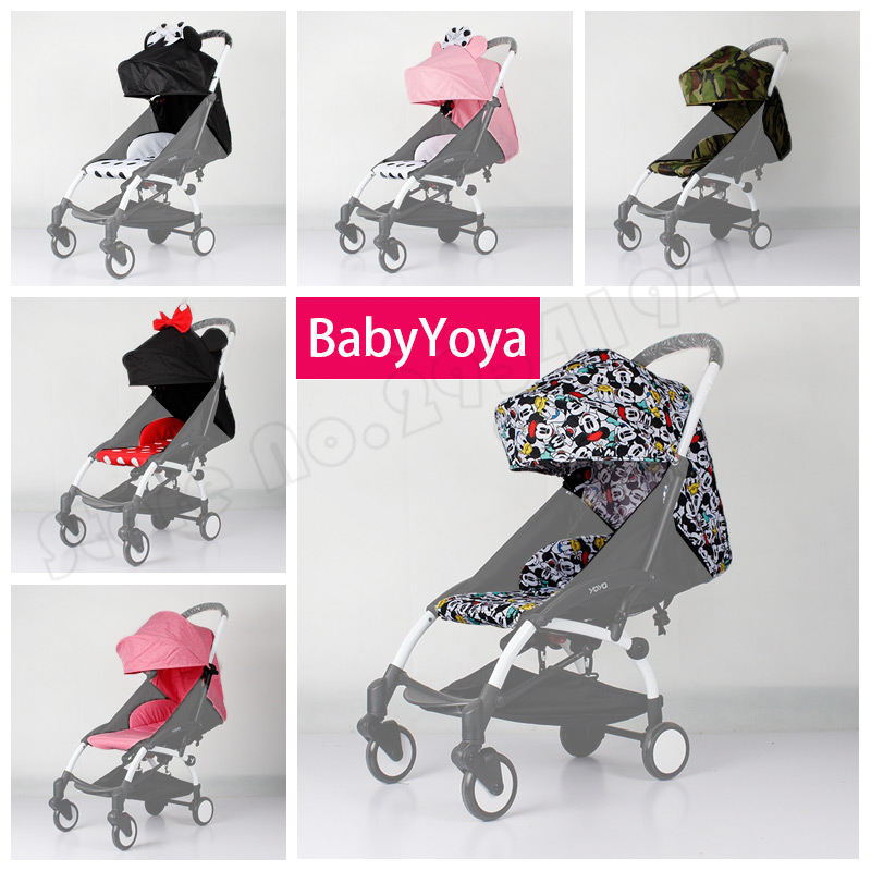 New Baby Yoya Stroller Accessories Three Segments 175 Degree Sun Cover And Seat Cushion Set Yoyo Cartoon Pattern Flowers Cover 2018 new arrived newborn body moon pleated cushion portable infantile cartoon pattern warn and soft 100