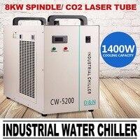 Water Chiller 6L Industriële Water Chiller CW 5200DG voor 130 W/150 W CO2 Graveur-in Houtwerken Machine Onderdelen van Gereedschap op