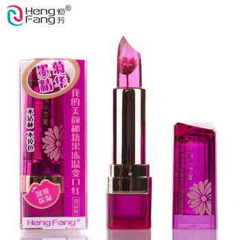 hengfang waterproof flower Lipstick beauty moisturizing cosmetic magic Temperature-changed jelly Lip stick long lasting Lip balm