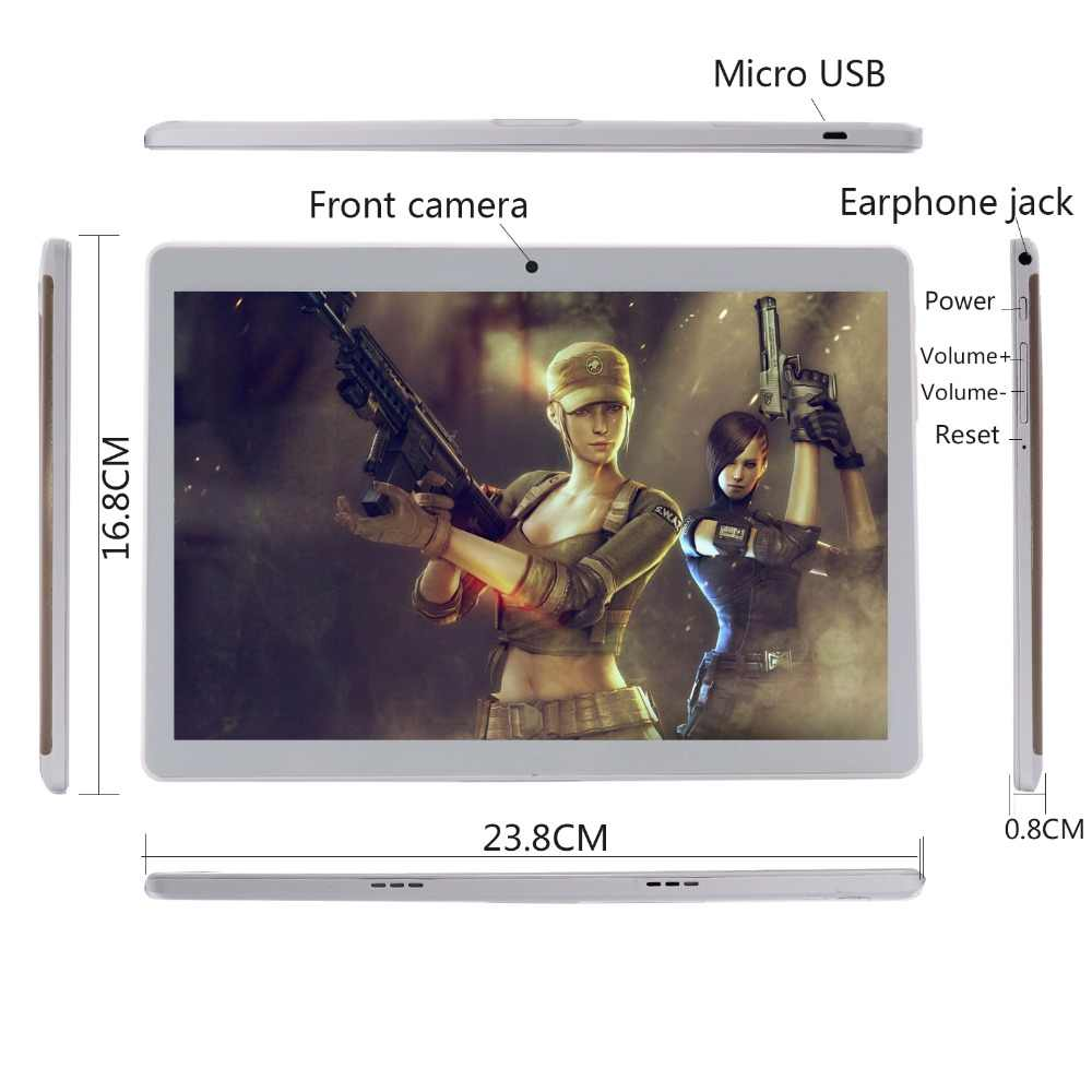 10 インチタブレット PC オクタコアの Android 8.0 Wifi Bluetooth のデュアル SIM カード 4 4G LTE 錠 10.1 4 ギガバイト RAM 128 ギガバイト ROM 64 グラムメモリカードギフト