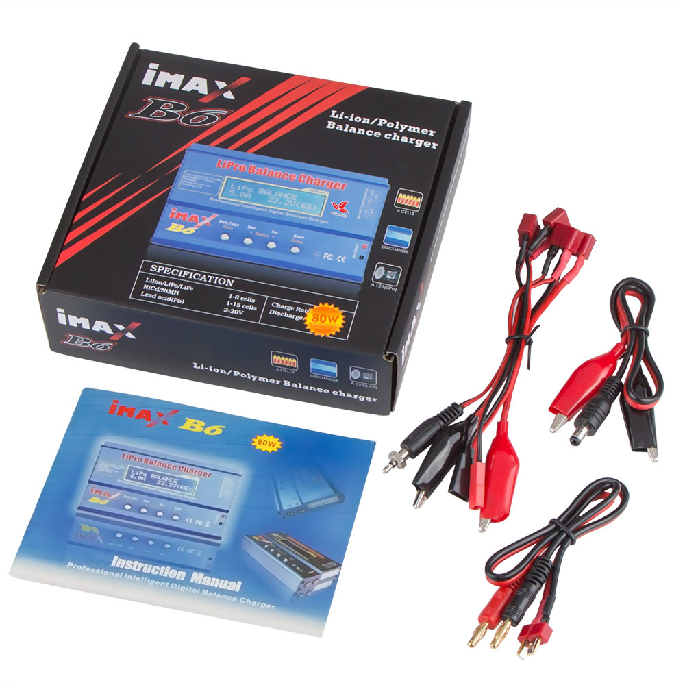 Construir Power Imax B6 Digital Rc Lipo Nimh Balance De La Batera 80w Battery Charger And Build With Ac 12v 6a