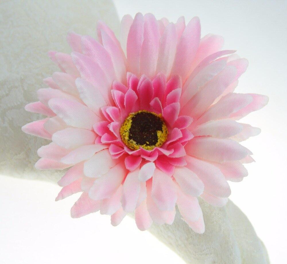 handmade silk flower napkin ring, napkin holder many colors-in ...