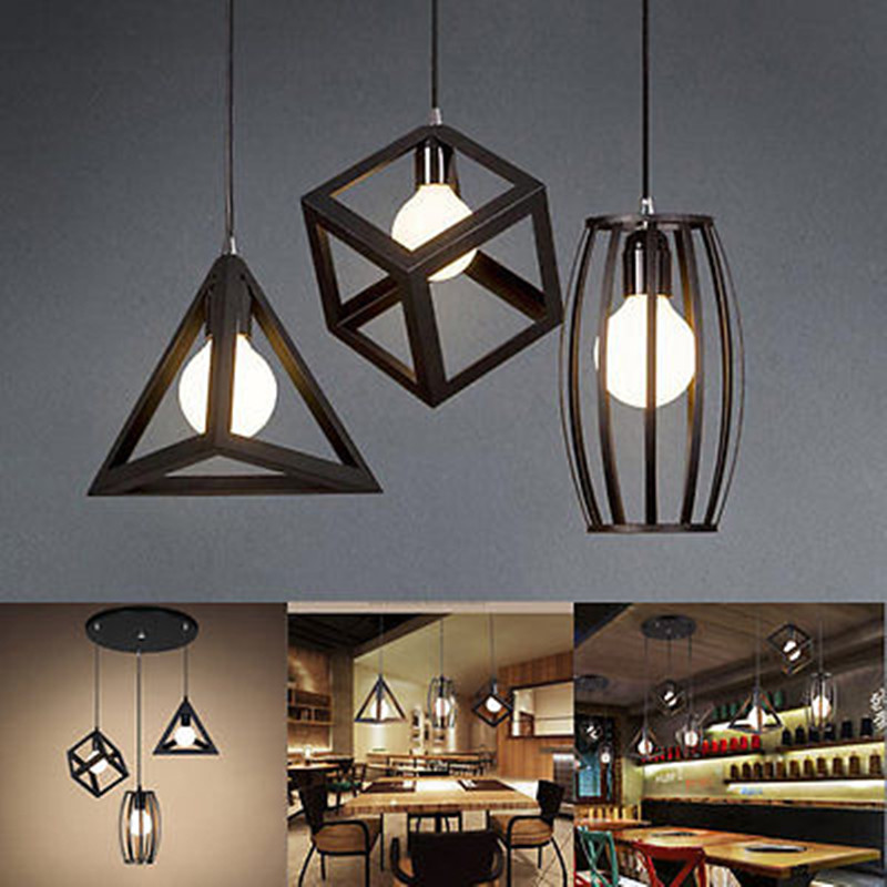 E27 Industrial Ceiling Light Vintage Chandelier Pendant
