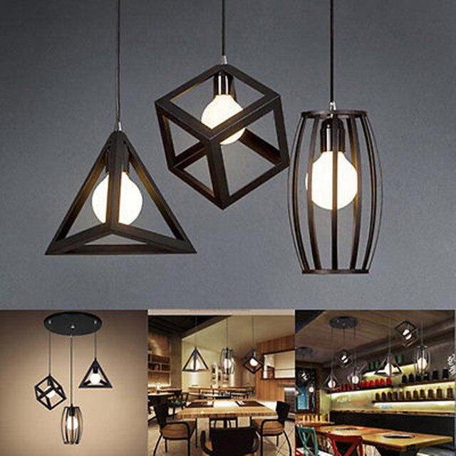 € 14.41 10% de réduction|E27 plafonnier industriel Vintage lustre pendentif  cuisine Bar luminaire lampe dans Figurines et Miniatures de Maison & ...