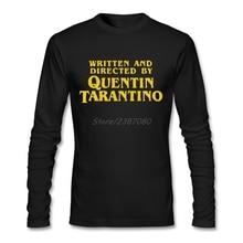Написанная и направленная Квентин Тарантино футболка хлопок Пользовательские с длинным рукавом мужская футболка хип-хоп Досуг Мужская футболка