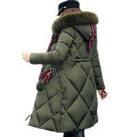 MSFILIA 2017 New Winter Jacket Women X Long Thicker Big Collar Warm Overcoat Fashion Parkas Female