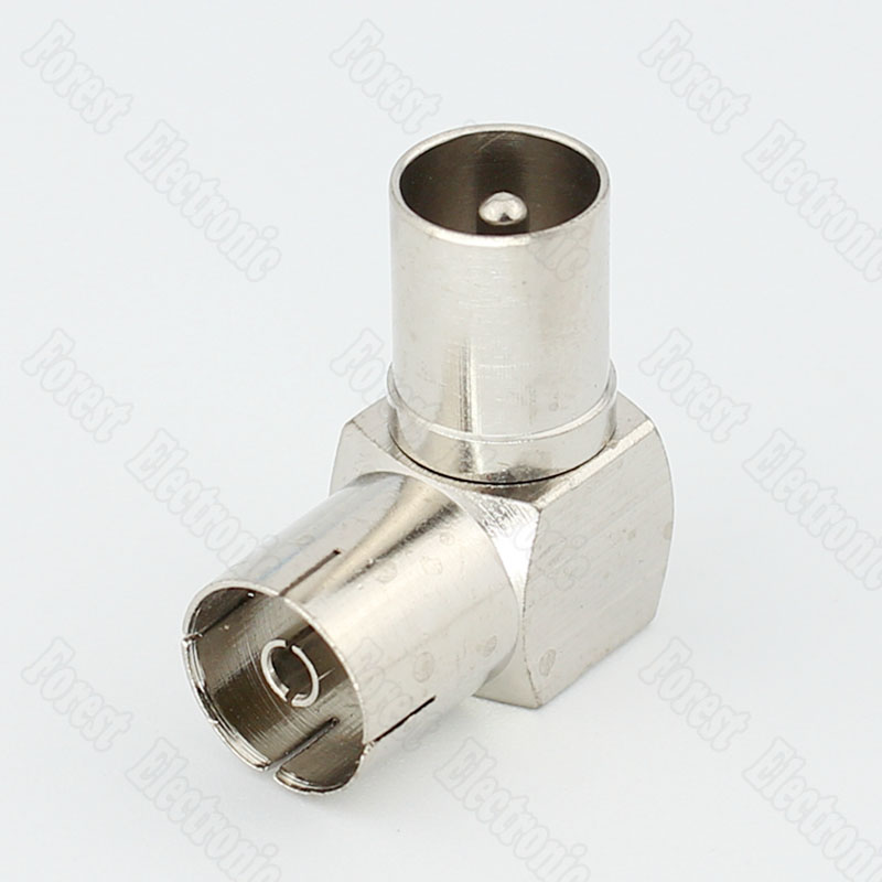 90 Degree Right Angle Elbow Connector RF Male TO Female Connector Female To Male Adapter For Set-top BOX 5 x rf antenna fm tv coaxial cable tv pal female to female adapter connector