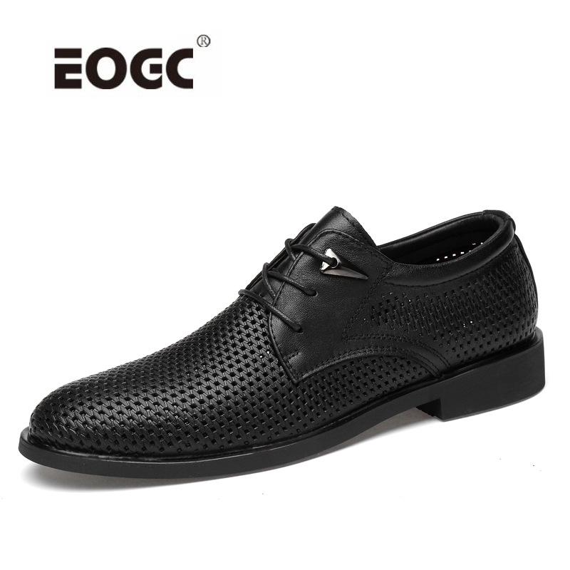 Formal Shoes Men's Shoes Collection Here Full Grain Leather Oxfords Shoes Handmade Plus Size Flats Shoes Fashion Oxford Business Shoes Mesh Wedding Dress Shoes To Have Both The Quality Of Tenacity And Hardness