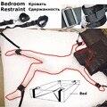 Нечеткие под кроватью секс-рабства ног сдержанность ремни безопасности наручники лодыжки манжеты установить взрослых фетиш игры игрушки комплект для женщин пары