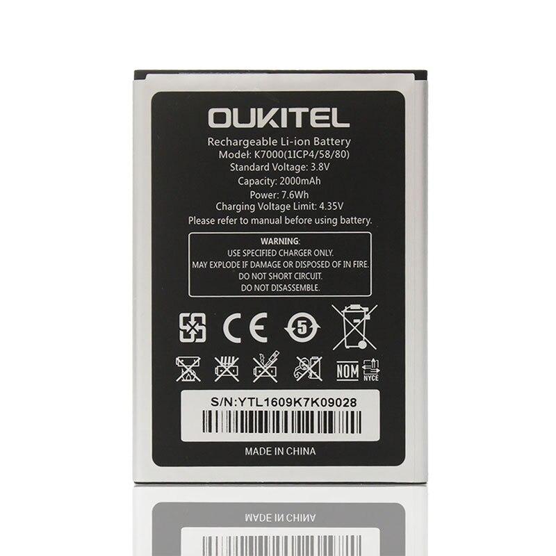 Oukitel K7000 Bateria Original 2000 mAh Bateria Smartphone Substituição Conivente Para Oukitel K7000 Em estoque
