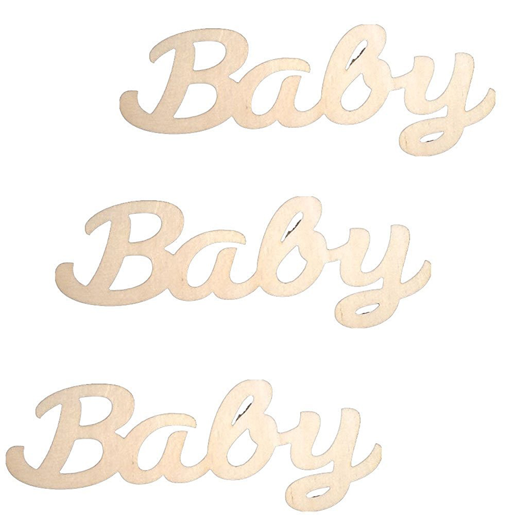 Baby Building blocks MDF Craft Blank Baby Plaque Embellishment PK 3