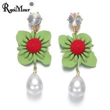 RAVINOUR Women Earrings Fashion Big Flower