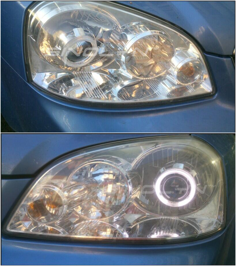 Image 5 - Sinolyn HID Projector Headlight Lenses Angel Eyes Bi xenon Lens Full Kit Running Lights For H7 H4 Car Accessories Retrofit Style-in Car Light Accessories from Automobiles & Motorcycles