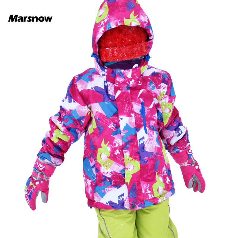 Marsnow Children Ski Jacket Boys Girls Warm Winter Skiing Snowboard Jackets Child Windproof Waterproof Outdoor Kids Snow Coats 2017 hot sale gsou snow high quality womens skiing coats 10k waterproof snowboard clothes winter snow jackets outdoor costume
