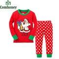 Рождественский Олень Пижама Дети Дед Мороз Снеговик Пижамы для Мальчиков Девочек Пижамы Bebe Младенческой Спящий детские Пижамы