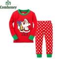 Papai Noel Boneco de Neve Dos Cervos do natal Pijamas Crianças Pijamas para Meninos Meninas Pijamas Do Bebê Bebe Dorminhoco Infantil Sleepwear infantil