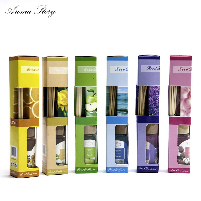 1pcs Multiple Smell Incenso Smoke-free Aroma Oil Rattan Reed Sticks Diffuser Indoor Bathroom Home Fragrance Oil 6 Scents