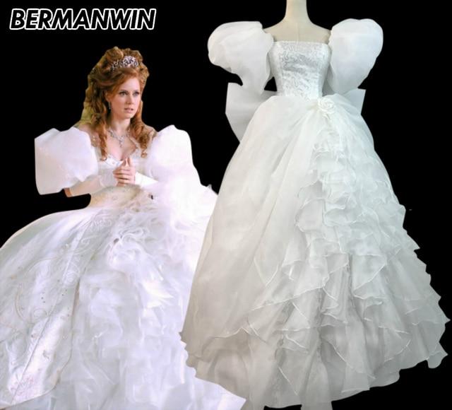 BERMANWIN High Quality Enchanted Princess Giselle costume white ...
