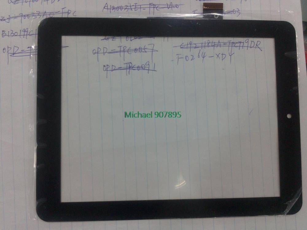F0264 XDY F0264X KDX FPC-CTP-0800-014-2 tablet touch screen writing tablet noting size and color