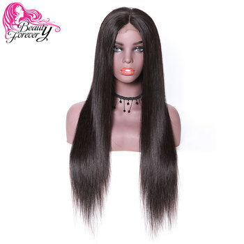 BeautyForever Full Lace Human Hair Wigs Straight Brazilian Remy Hair Wig14-28inch Natural Color Swiss Lace 150% & 180% Dencity
