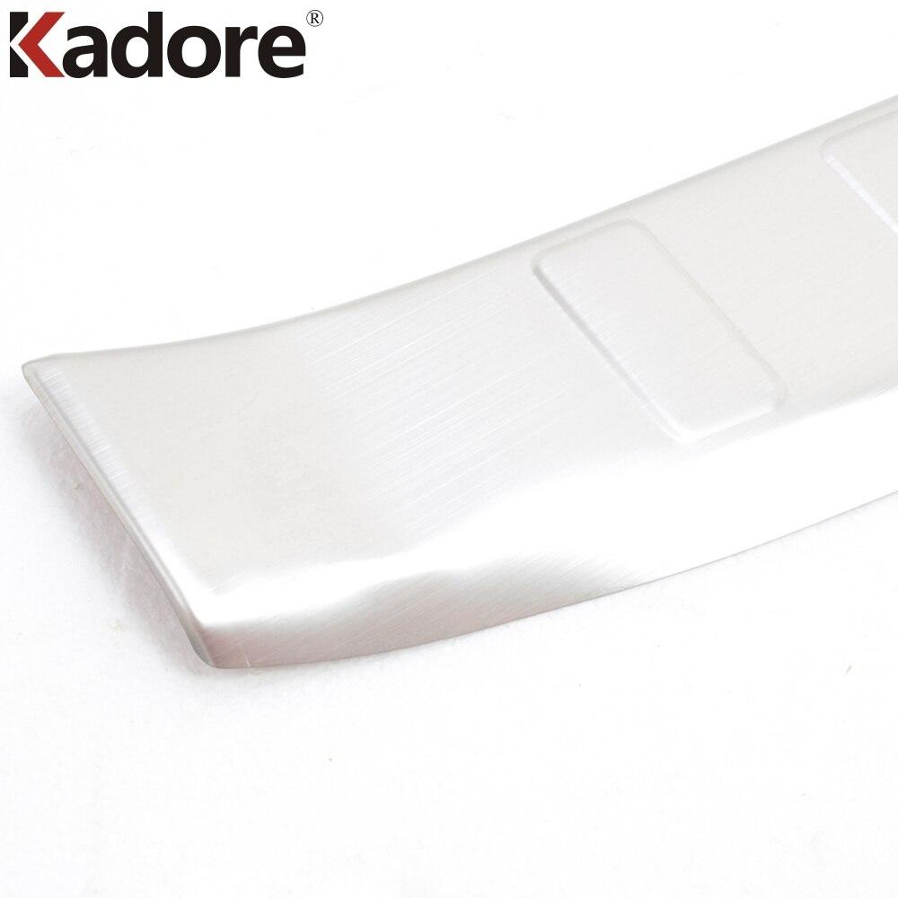 Pour Nissan Qashqai 2014 2015 acier inoxydable couvercle de pare-chocs arrière plaque de bande de roulement seuil de pédale arrière garde-boue garniture de pare-chocs accessoires - 6