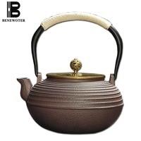 1200ml Japanese Style Metal Cast Iron Teapot Kung Fu Tea Set Puer Black Tea Kettle Pot Health Care Drinkware Ornament Home Decor