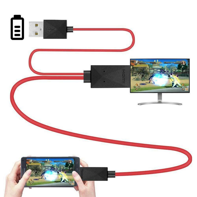 6.5 Feet MHL Micro-USB To HDMI Adapter Converter Cable 1080P HDTV For Android Devices S3 S4 S5 Note 3 Note 2 No
