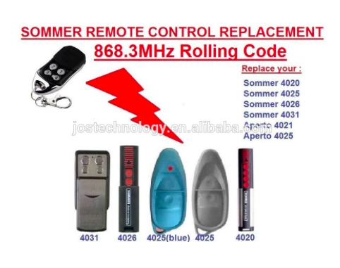 Sommer remote control replacement 868MHZ 4020 4025 4031 rolling code free shipping marantec d302 868 d304 868 d313 868 d321 8 replacement remote control 868mhz free shipping