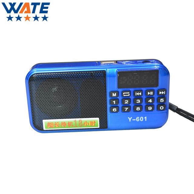 Nueva Llegada de la Alta calidad 3 Colores Mini LCD Digital Portátil FM Altavoz de Radio Del USB SD Tf Reproductor de Música Mp3 Envío gratis