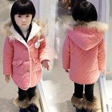 Новый зимнее пальто кролик девочек пальто с Корейских производителей, продающих хлопка кашемир утолщенной