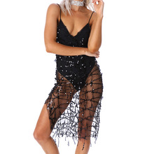 Sexy Sequin Tassel Women Belly Dance Costume Lingerie Nightclub Stage Performance Sling Dress Ballroom Dance Competition Dresses