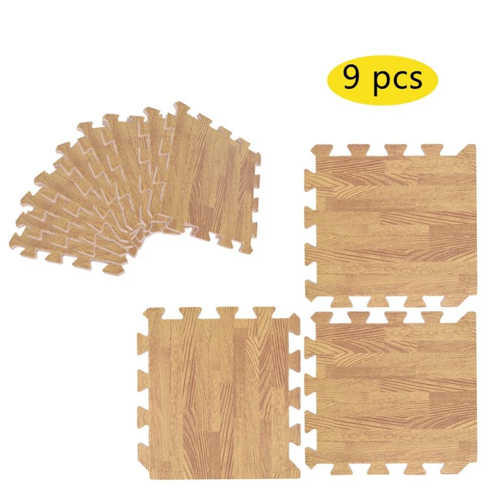 "11.8/"" x 11.8/"" Imitation Wood Foam Exercise Floor Mats Gym Garage Kids Play Mats"