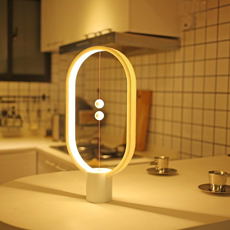 Intelligent équilibré magnétique aspiration demi nuit lumières chambre chevet Air interrupteur bois LED lampe de bureau maison vie appareils de lecture