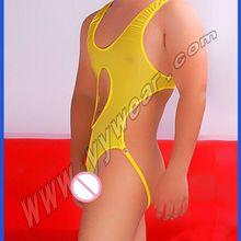 7efe7b871ba new Ice silk men masculino buckle underwear shapewear for men jumpsuit  Men s bodysuit Open gay jockstrap
