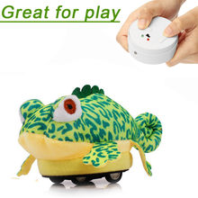 New Style Cute Cute Remote Control Lizard Plush Toy Robot Cartoon Novelty Prank Toys for Kids Drop Shipping(China)