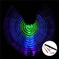 2018 Women LED Light Isis Wings Belly Dance Costumes 360 Degree Sticks Stage Performance Belly Dance