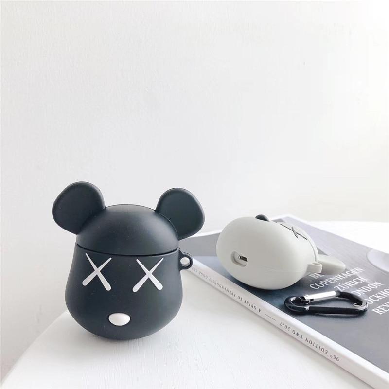 Cartoon Bear Cover For Airpod Case Cover Cute Silicone