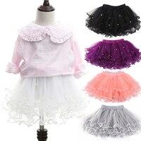 תינוקות בנות חרוזים רך שכבות נסיכת חצאית טוטו Pettiskirt שמלת ריקוד בלט קלאסי עד טול חצאית תחתונית קרינולינה