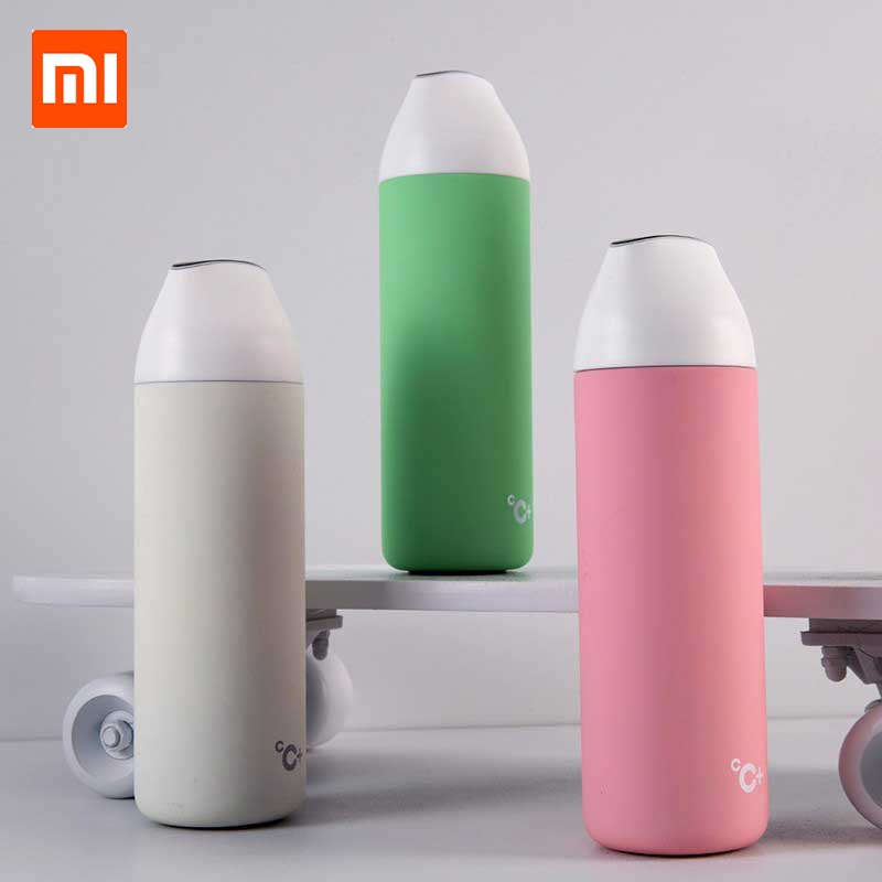 Xiaomi Smart Vacuum Insulation Bottle Kiss Kiss Fish Vacuum Flasks Thermoses OLED Temperature Display Thermos Travel