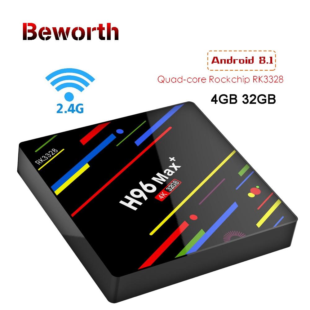 10pcs RK3328 Android 8.1 TV Box H96 Max+ Plus Quad Core 4GB 32GB Set Top Box 2.4G WiFi H.265 4K USB 3.0 Smart HDD Media Player h96 max plus tv box android 8 1 4gb 32gb 64gb set top boxes rk3328 quad core 4k ultra hd h 265 usb 3 0 wifi 2 4g media player