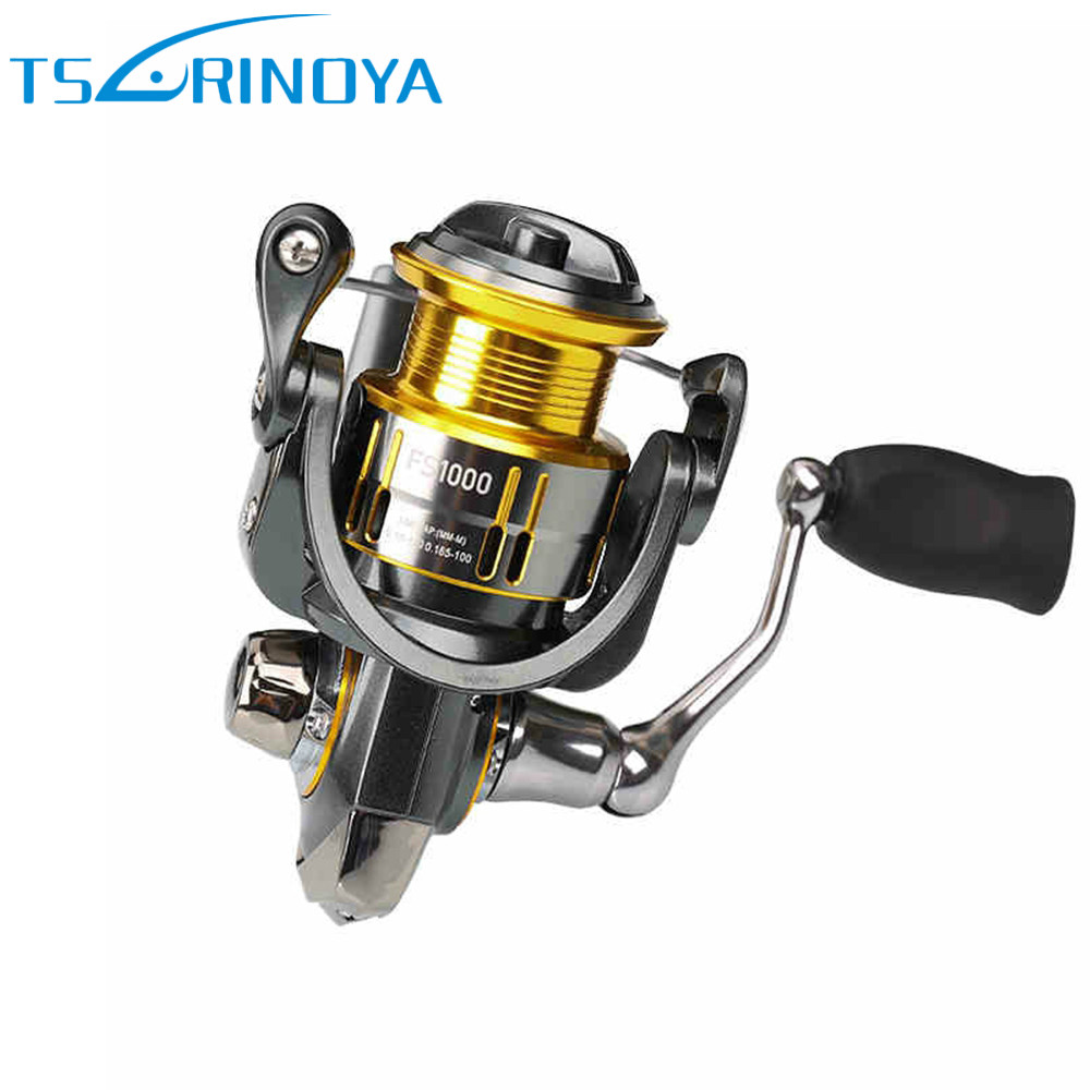 TSURINOYA FS800 FS1000 Spinning Reels Metal Spool Lure Reel 9+1BB 5.2:1 Rock Fishing Wheel Molinete Peche Para Pesca Carp Coil tsurinoya spinning fishing reel 9bb 5 2 1 full metal 2000 5000size ocean boat lure reels carretes pesca molinete fishing wheel