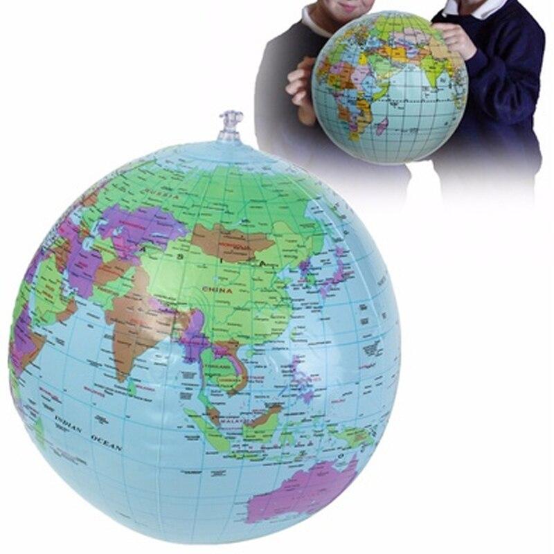 30 см надувной глобус мир Земля Карта океана мяч для обучения по географии обучающий пляжный мяч Детская игрушка украшение для дома и офиса