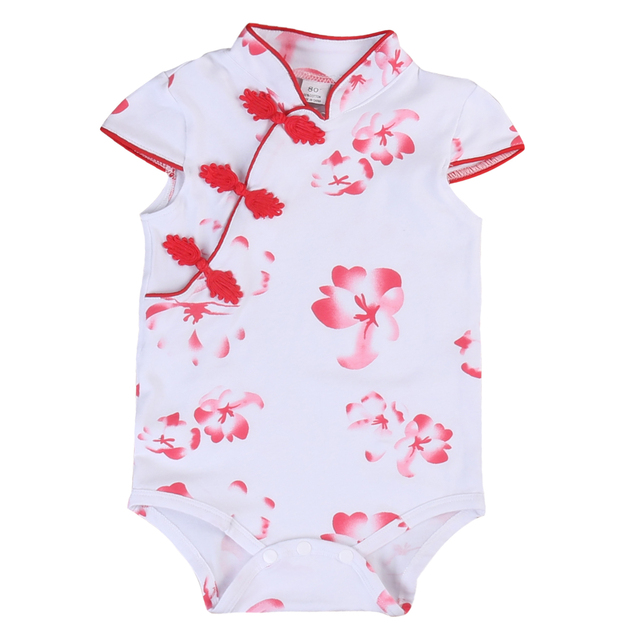 684c3790866 Newborn Infant Baby Girl Floral Romper Jumpsuit Outfits Clothes Toddler  Adorable Baby Summer Chinese Style Summer Floral Romper
