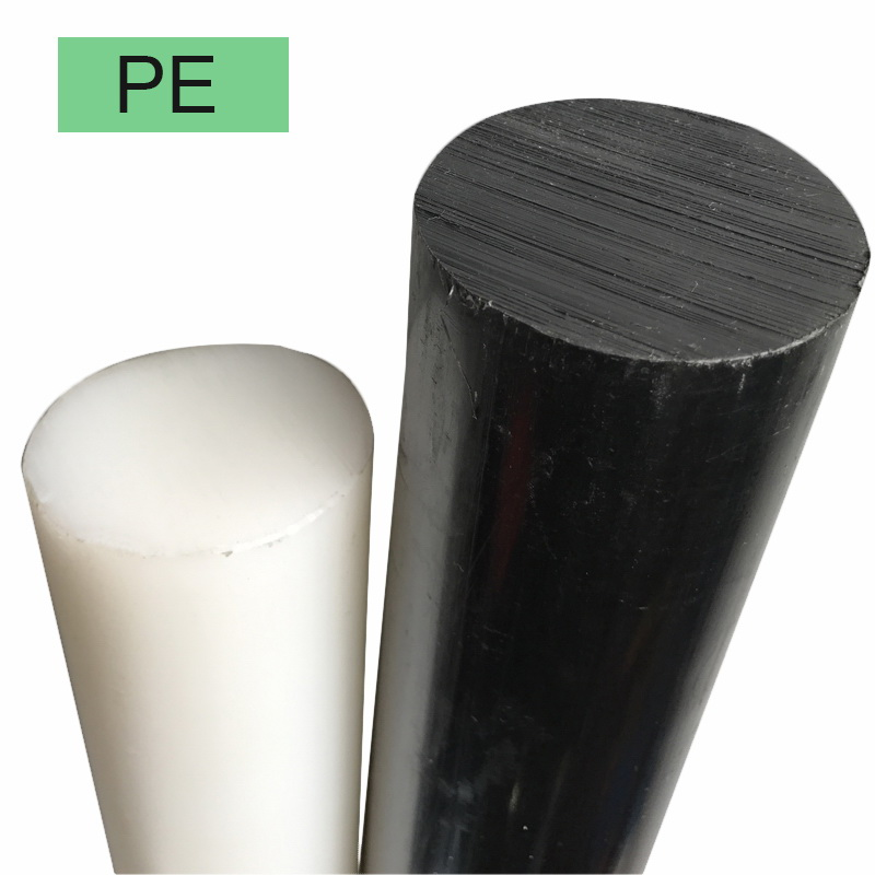 1m(will Cut To 2pcs) Black White Ultra-high Polymer Polyethylene Rod HDPE Rod UHMW Rod Machining Dia.10mm~45mm