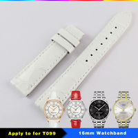 16mm T099 Watch Strap Genuine Leather Watchband Wrist Bracelet Watches woman lacquered leather strap