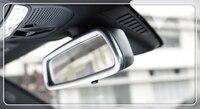For Mercedes Benz C Class W205 / GLC X253 2015 2019 Interior Rearview Mirror Frame Cover Trim 1pcs ABS Matte Auto Accessories