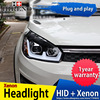 Hireno Headlamp For Great Wall Haval M4 Headlight Headlight Assembly LED DRL Angel Lens Double Beam