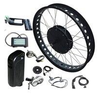 20/26*4.0 48V 1000W Fat Motor Wheel Ebike Kit SAMSUNG 48V 12A/LG 48V 16A Lithium Battery Electric Bike Kit MTB E bike
