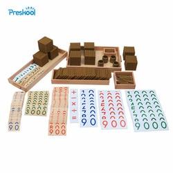 Bambini Montessori Giocattolo di Legno Del Bambino di Perline D'oro Materiali di Apprendimento Educativo Prescolare Formazione Brinquedos Juguets